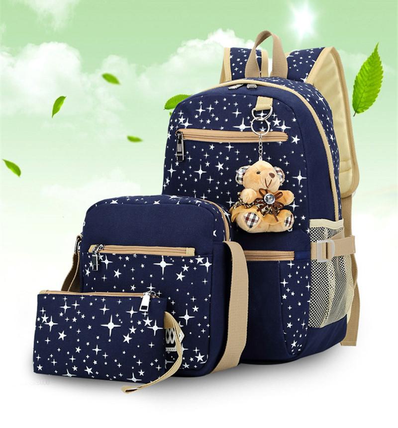 270 (10)3 pièces/ensemble sac à dos sacs d'école