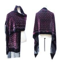 Новинка года; большие Размеры плед флористическая накидка женские шарфы для женщин зима-пончо роскошный винтажный шарф для размещение на одежде, отличный подарок для влюбленных