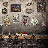 Düzensiz KARIKATÜR TARZı gölge Vintage Teneke Işareti plak Bar pub ev House Cafe Restaurant Duvar Dekor Retro Metal Sanat Poster