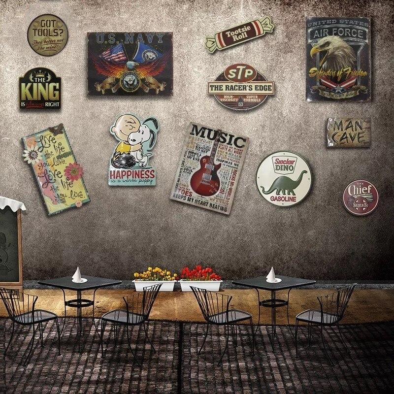 Irregular CARTOON STYLE shade Vintage Tin Sign