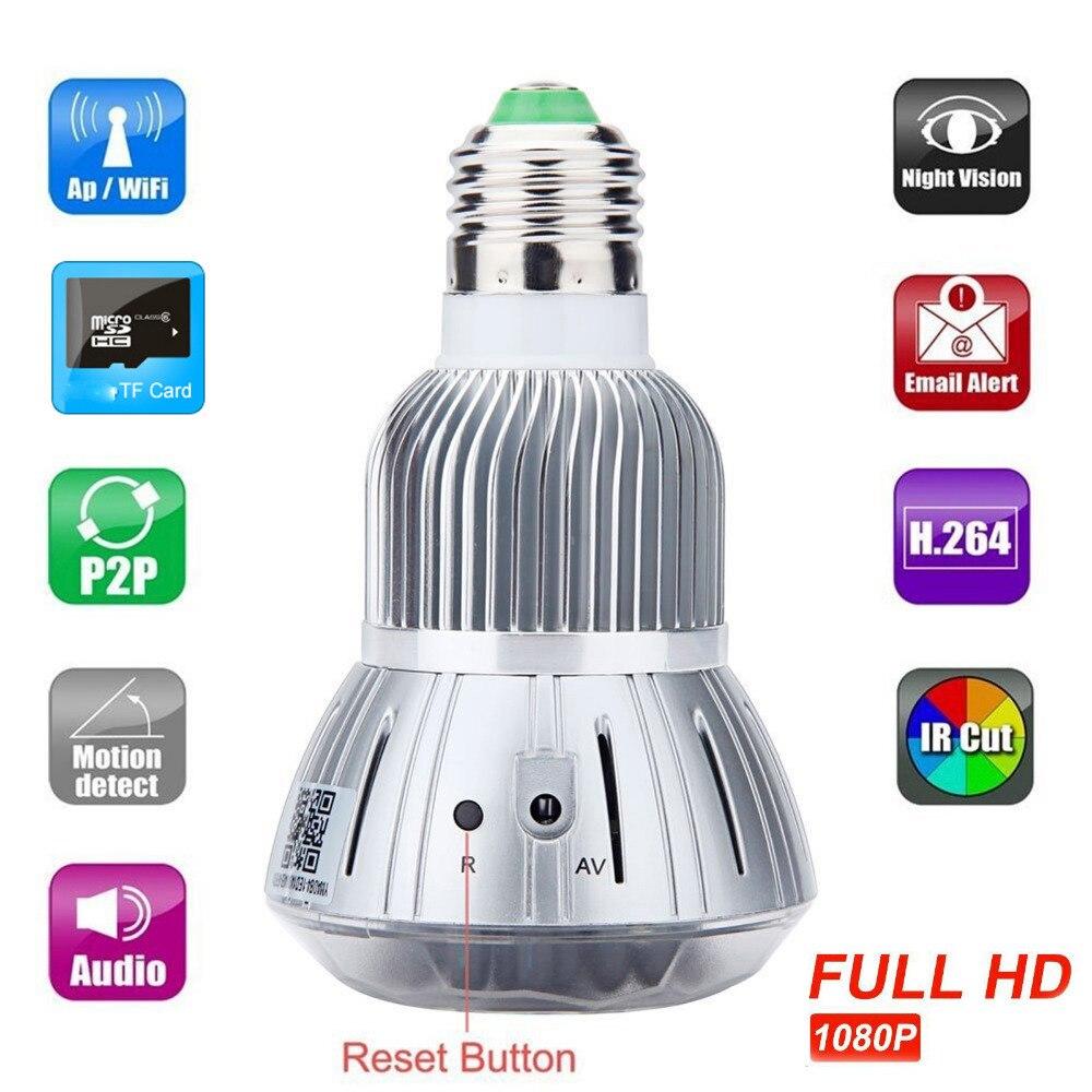 HD 1080P Hidden Smart Home Safty Wifi font b Camera b font E27 LED Lamp Bulb