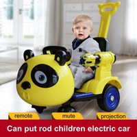 Children Electric Scooter Karting Toy Swing Car Trolley Early Education Remote Control Adjustable with Flashing Light Four Wheel