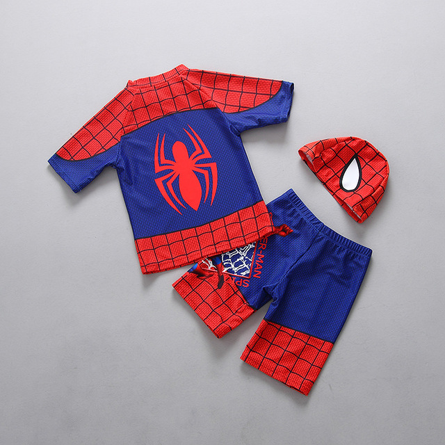 3 Pieces Boys Swimwear Rash Guards Summer Baby Kids Swimsuits 2018 Beach Surfing Bathing Suits 2-7 Years