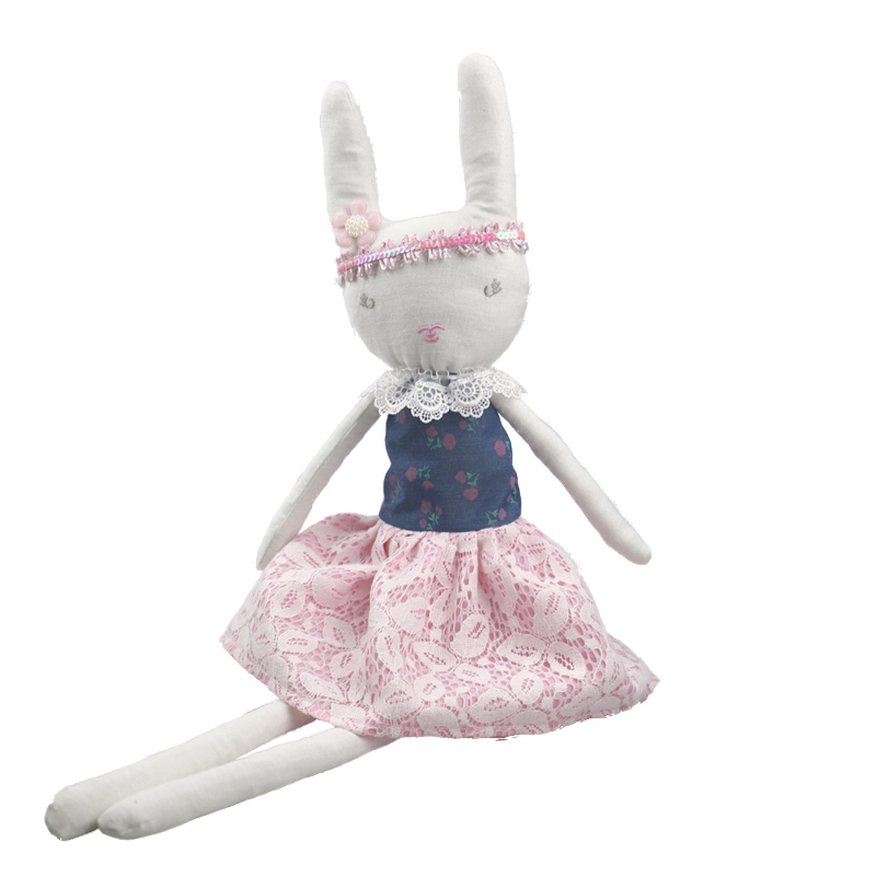 60cm Easter Bunny Rabbit Toy Dolls For Girls Cute Plush Baby Toys White Rabbit Stuffed Animal Dolls Girls dolls & stuffed toys