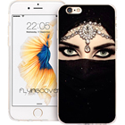 Coque Black Muslim Girl Islam Cases for iPhone 10 X 7 8 6 6S Plus 5S 5 SE 5C 4S 4 iPod Touch 6 5 Case Clear Soft Silicone Cover.