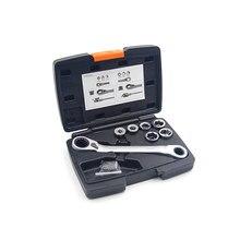 13 в 1 Многофункциональный фиксированный храповый ключ ручной инструмент набор адаптер гаечного ключа привод динамометрический ключ гнездо