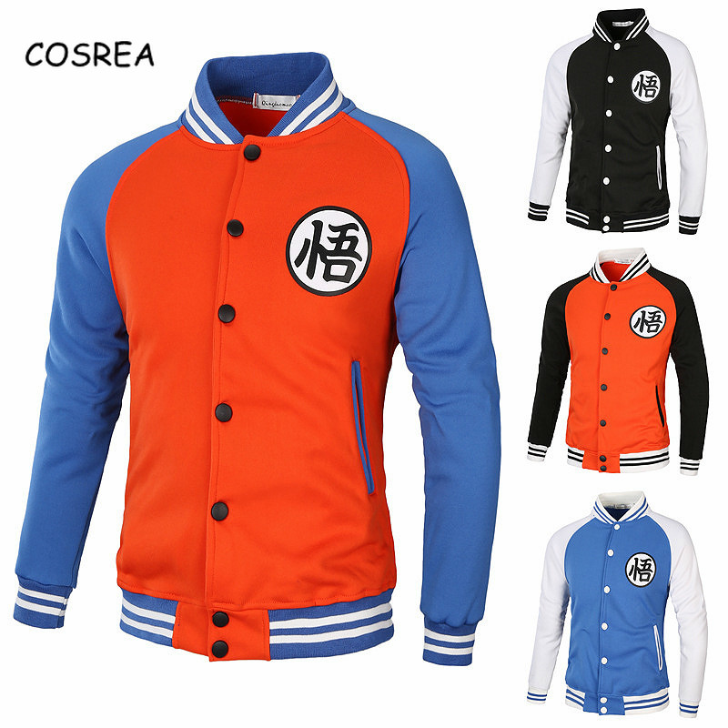Anime Cosplay Costumes Dragonball Z Dragon Ball Super Son Goku Black School Uniform Sleeve Shirt Baseball  Jacket Coat for Men