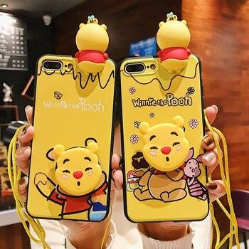 3D Cute Winnie Pooh Phone Case For Huawei Y7Prime Y6 Y9 2019 Case Cartoon Bear Silicone Capa Fundas For Huawei Y5 2018 winnie the pooh iphone case