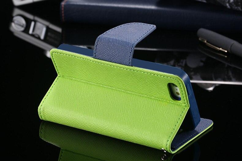 Podwójny kolor klapki skóra telefon torba case dla iphone 6 7 6 s plus 5 5S se gniazda kart + stojak kabura pokrowiec case dla iphone 7 6 6 s 4