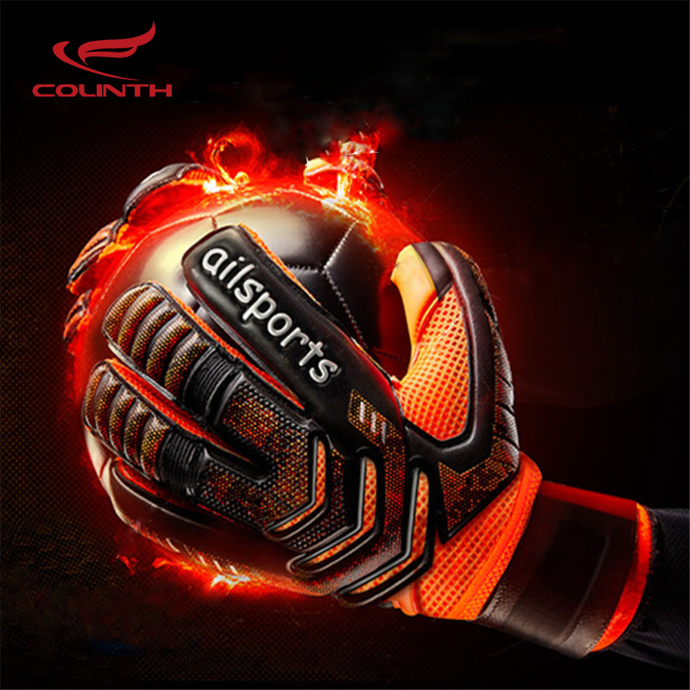 Men Professional Football Goalkeeper Gloves Finger Protection Goal Thickened Latex Soccer Gloves for futbol futebol Goalkeeper hot 2016 soccer goalkeeper golden trophy best goalkeeper trophy cup best goal keeper trophy award for goalkeeper gold color