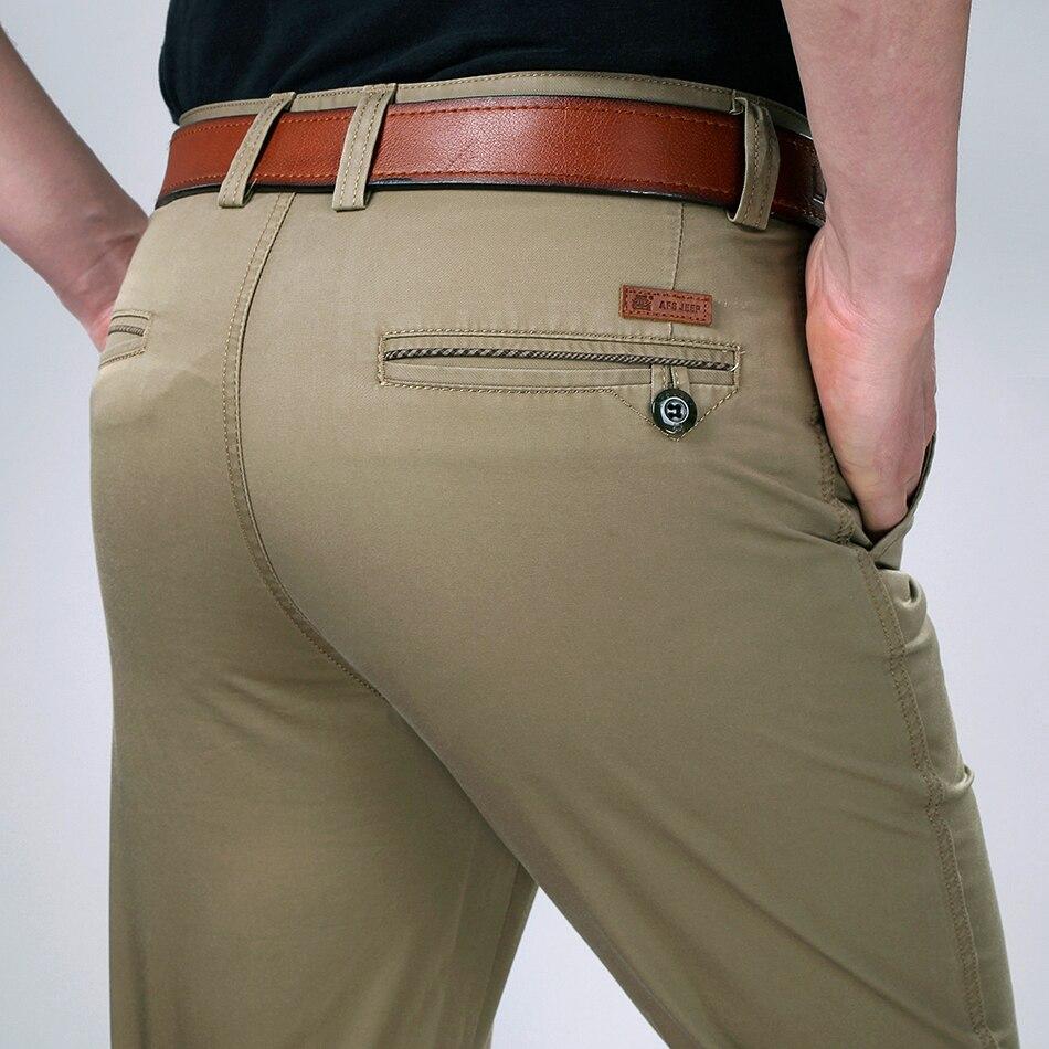 ICPANS Summer Style Thin Casual Pants Mens Straight Black Khaki Pants Trousers For Men Big Size 29-36 38 40 42