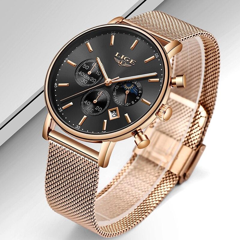 Holiday Gift Clock Women LIGE Watch Fashion Casual Quartz Watches Ladies Top Brand Luxury Watch Female Girl Wrist Watch Relógio 3