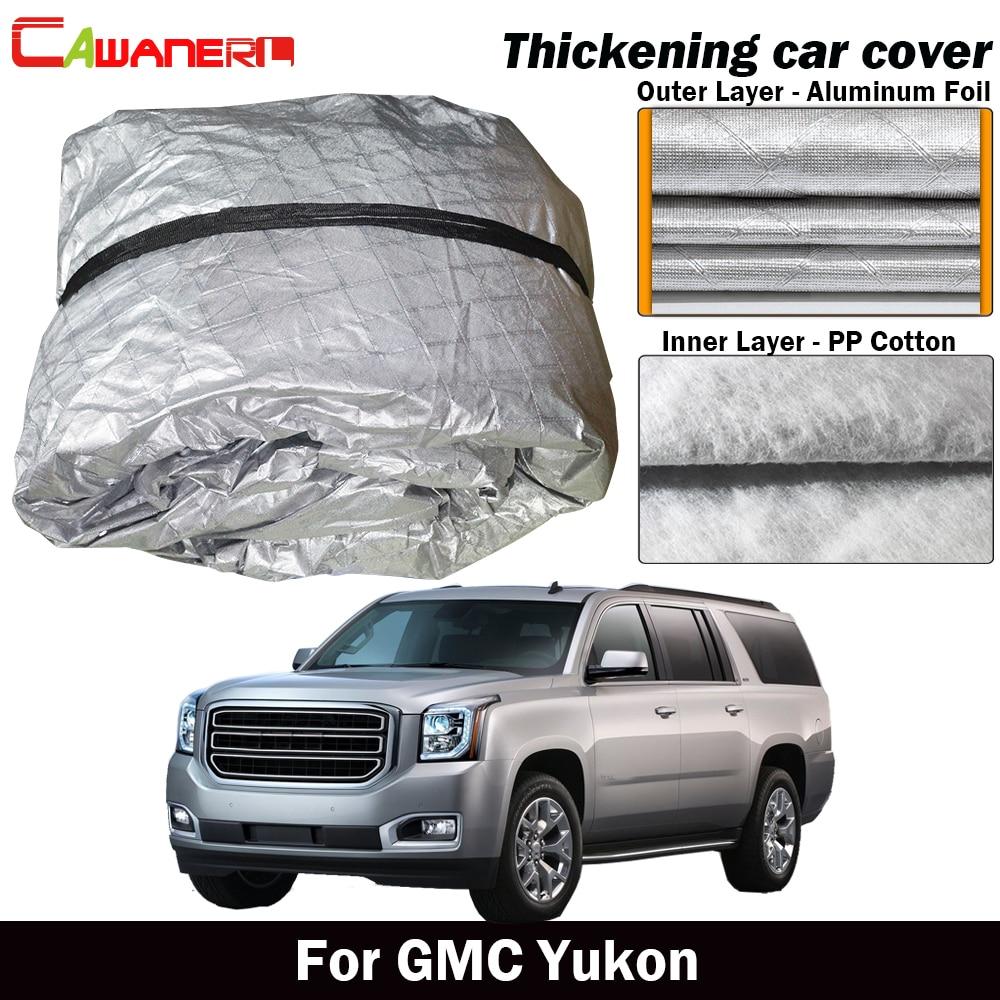 Cawanerl For GMC Yukon Waterproof Car Cover Cotton Inner Anti UV Sun Shade Rain Hail Snow