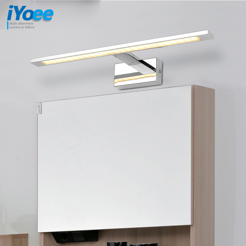 Modern 10W 48CM LED wall lamps bedroom vanity lighting simple Makeup Waterproof anti-fog lamp 1200lumen Bedroom lighting