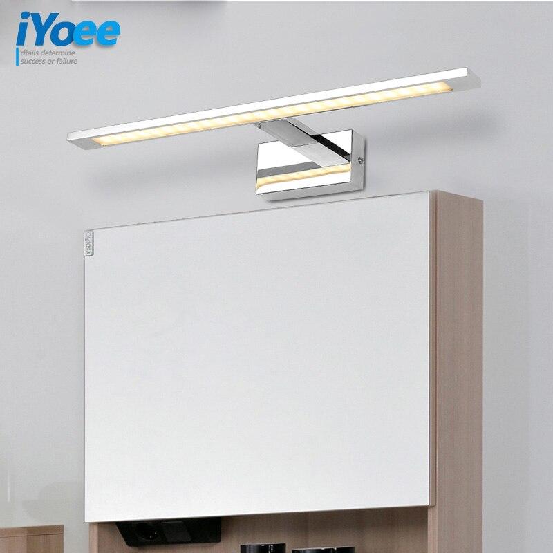 Anti fog Waterproof stainless steel Mirror Light LED Bathroom vanity Wall Lamp Brief Indoor Lighting Fixtures Sconce for Home Be