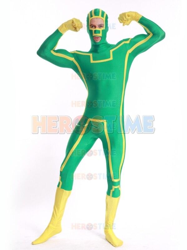 Costum Cosplay Costum Spandex Kick-Ass Costum Fullbody Costum - Costume carnaval