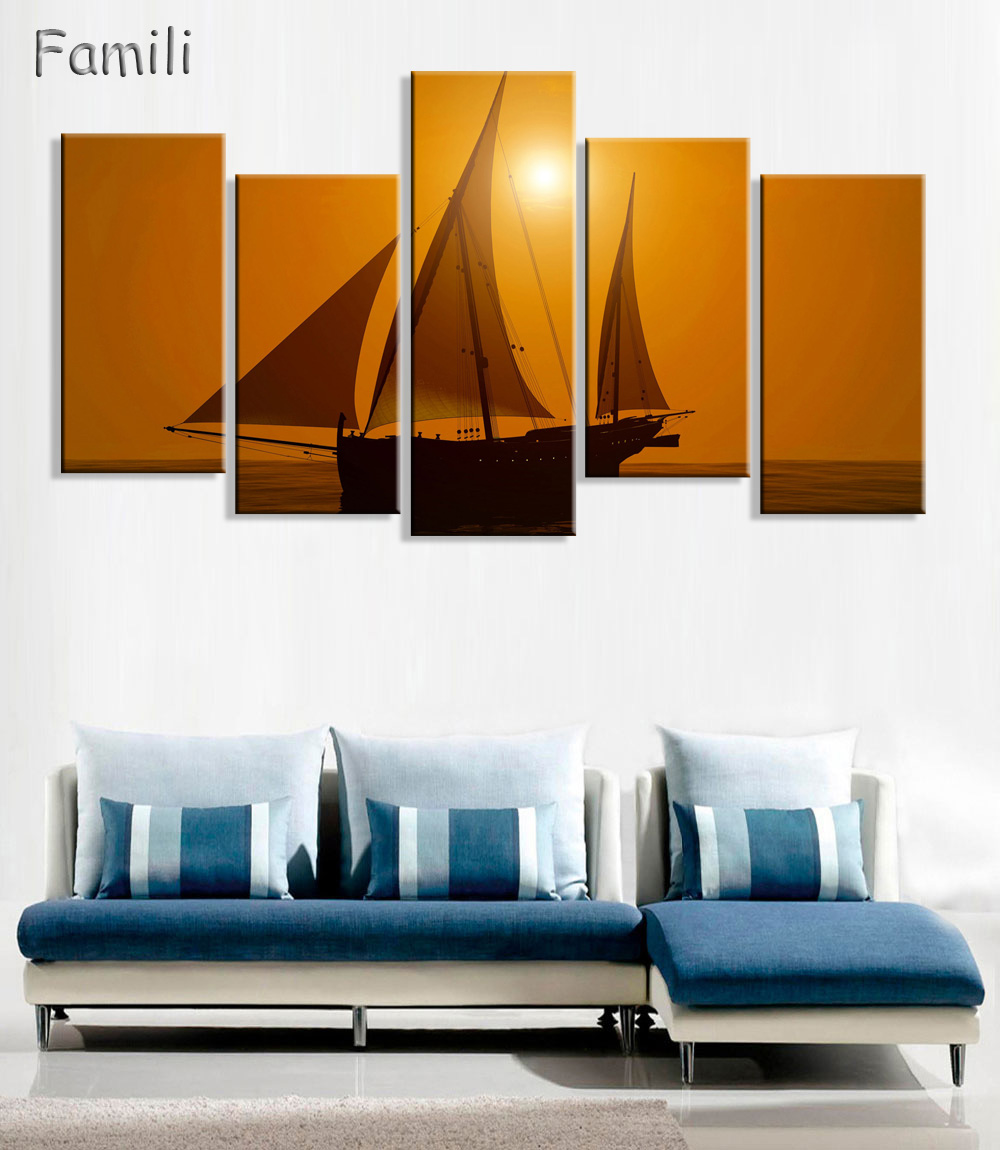 Modern Art Paintings For Living Room Popular Ship Art Paintings Buy Cheap Ship Art Paintings Lots From