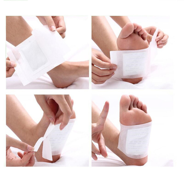 200PCS Artemisia Argyi Kinoki Detox Foot Patches Pads Toxins Feet Slimming Cleansing Herbal Body Health Adhesive Pad Weight Loss 2
