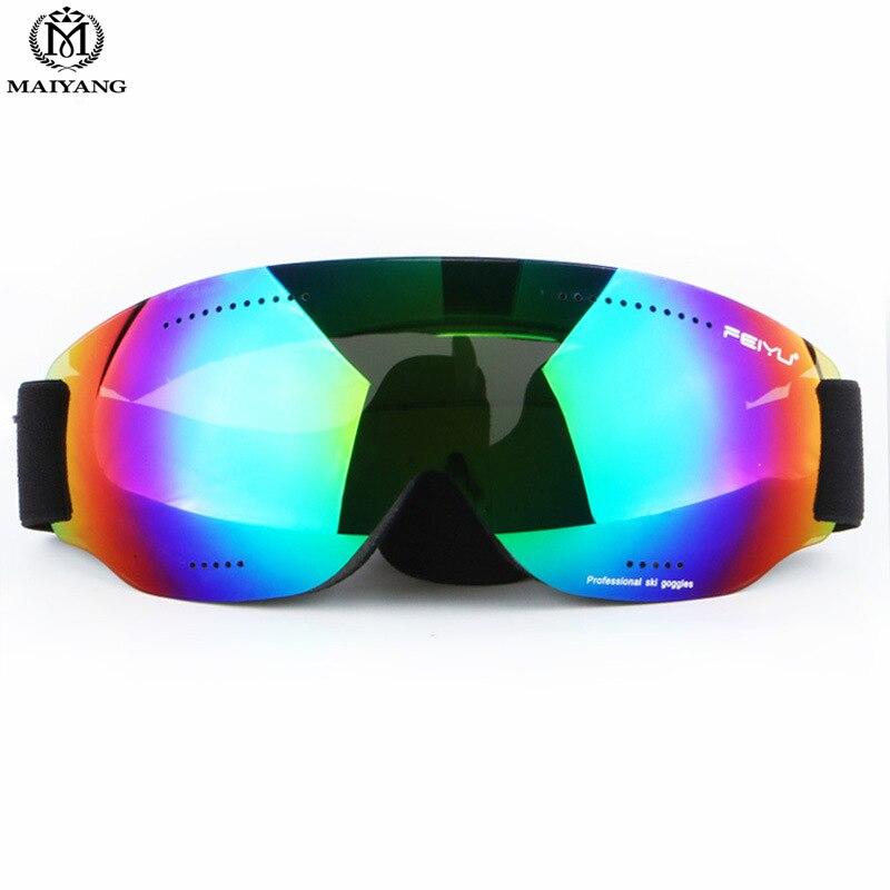 Prix pour Extérieur Ski Snowboard Lunettes Sans Cadre Hommes Femmes Grand Spher Double UV400 Anti-buée Grandes lunettes de Ski Masque de Ski Lunettes HX-068
