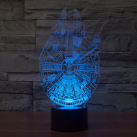 5V USB 3D Lights 3D LED Table Lamp LED Nightlights with Touch Button Lamp as Friends Novelty Gifts