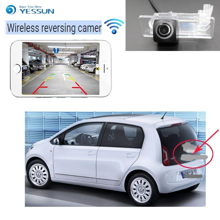 YESSUN pour Volkswagen 4D 2D up voiture hd CCD Vision nocturne caméra de recul caméra de recul plaque d'immatriculation caméra sans fil