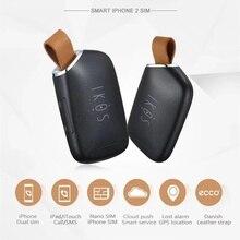 IKOS deux cartes SIM actives adaptateur pour iPhone 6 7 8 X XS MAX double SIM cartes Bluetooth veille adaptateur pour iPod iPad pas de Jailbreak