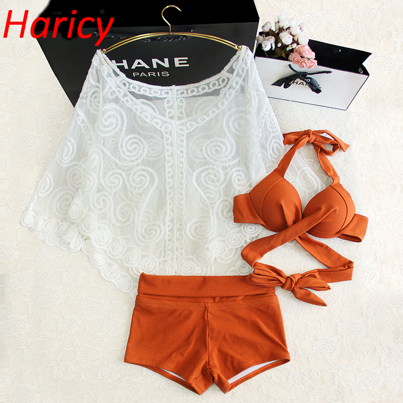 2018 New Sexy Criss Cross Bandage Bikinis Women Swimsuit High Waisted Bathing Suits Swim Halter Push Up Bikini Set Swimwear da hai 2017 new sexy bikinis women swimsuit high waisted bathing suits swim halter push up bikini set plus size swimwear 3xl
