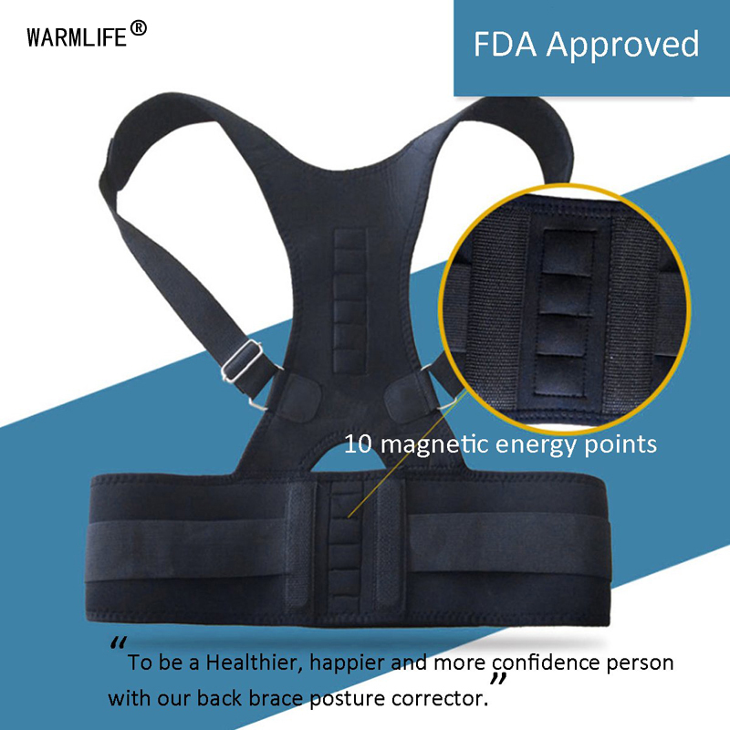 Image 5 - Magnetic Posture Corrector Therapy Brace Shoulder Back Support Belt for Men Women Braces & Supports Belt Shoulder Posture-in Braces & Supports from Beauty & Health