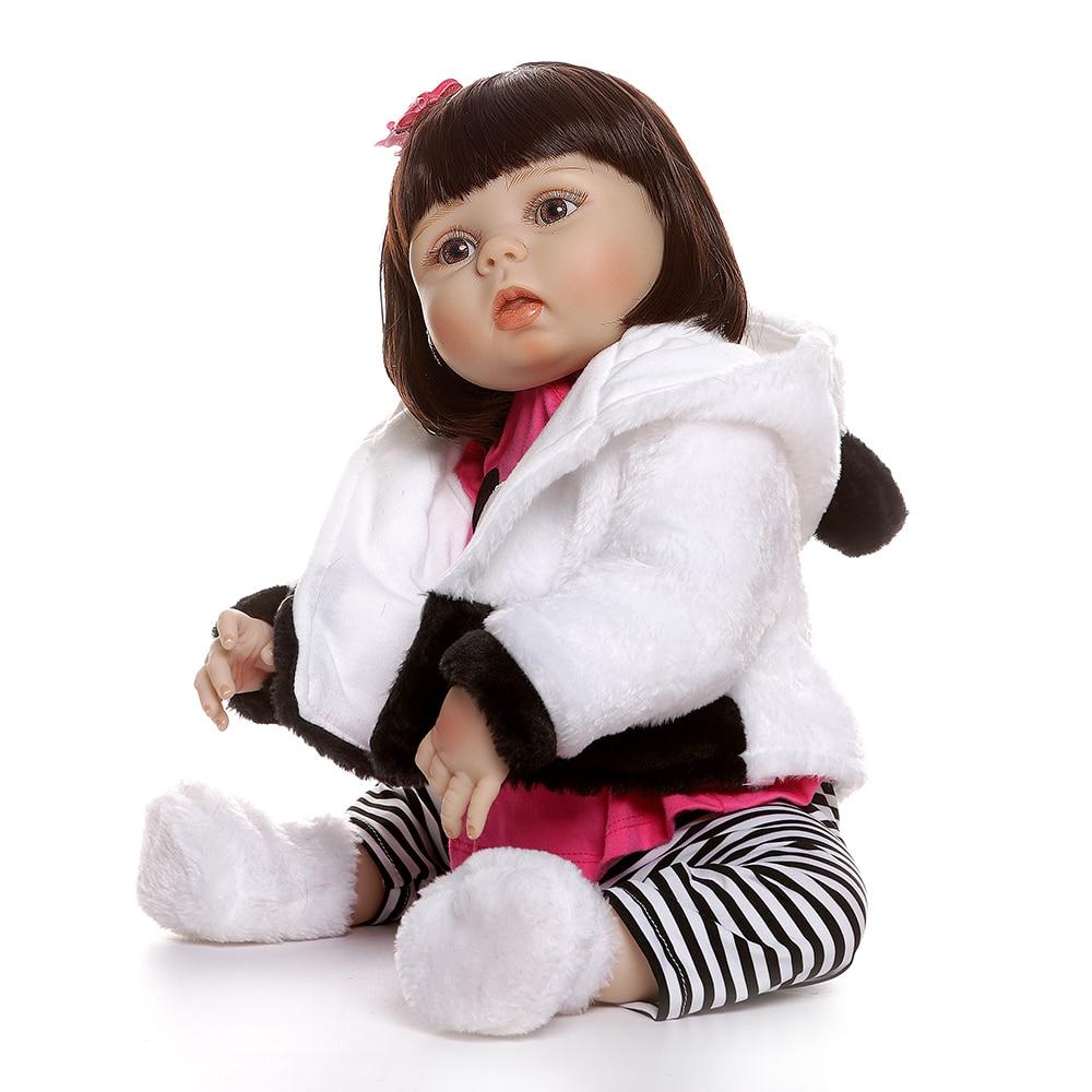 NPK 56 CENTIMETRI del bambino della bambola della ragazza di corpo pieno di silicone 0 3M dimensione reale del bambino bebe bambola reborn Vasca Da Bagno giocattolo Anatomicamente Corretta-in Bambole da Giocattoli e hobby su  Gruppo 2