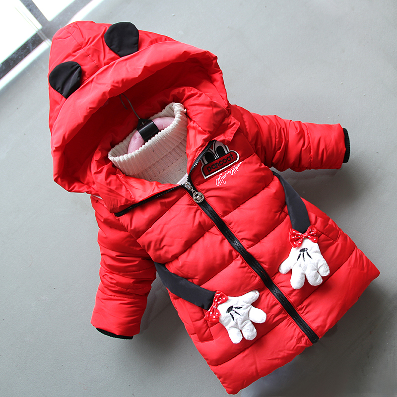 BibiCola new children coats winter girls fashion long hoodie coats clothes kids girls thikcen cartoon coats girls warm clothing двуспальный евро комплект белья спал спалыч 4087 1 ингрид 2e