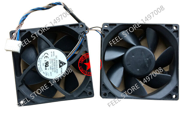 Free Shipping For DELTA  QFR0912VH, 468773-001, -8C71 DC 12V 0.60A, 8-wire 6-pin 40mm 90x90x25mm Server Square cooling fan delta 12038 12v cooling fan afb1212ehe afb1212he afb1212hhe afb1212le afb1212she afb1212vhe afb1212me