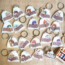 18pc Anime Keychain Kantai Collection Medicchu Kancolle Northern Princess Kancolle Amatsukaze Portachiavi Keyrings Pendant