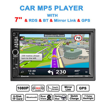 "2Din  7"" Bluetooth Touch Screen Car MP5 Player Audio Car Stereo FM Radio Video Player Remote Control Android Autoradio"