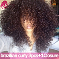 Brazilian Kinky Curly Virgin Hair With Closure Brazillian Hair With Closure 8A Brazilian Virgin Hair With Closure Deep Curly