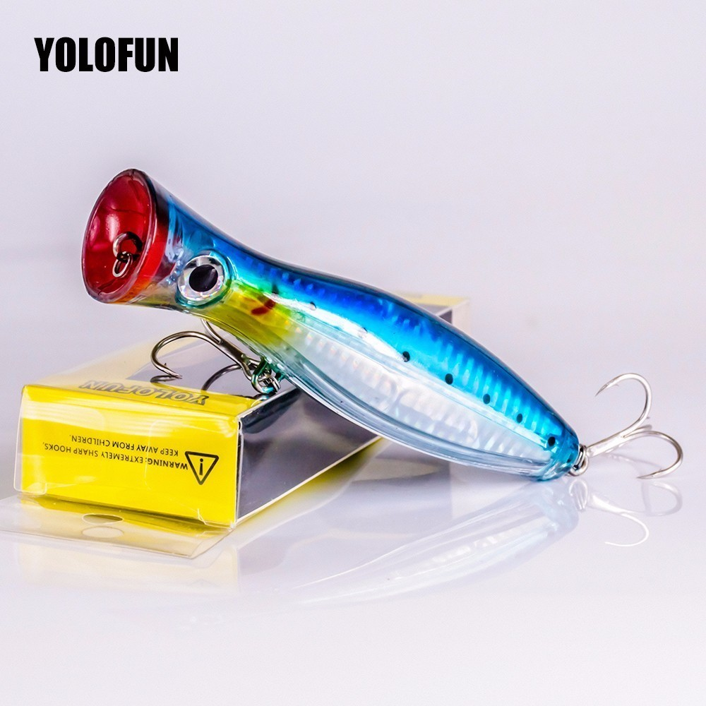 Image 5 - Best 12cm 42g Hard Lure Big Popper Lure 4 Colors Top Water Fishing Lures Popper Lure Crankbait Minnow Swimming Crank Baits pesca-in Fishing Lures from Sports & Entertainment