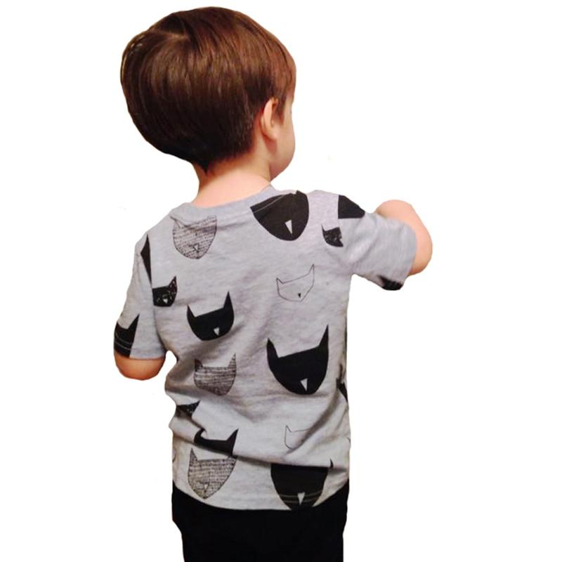 T-shirt Kids Boy Summer Style 2017 Batman Animal Pattern T-shirt da - Vestiti per bambini