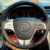 Volante cobre Caso para Mazda 6 couro genuíno DIY estilo do carro Anti-slip cobertura de volante de couro de costura