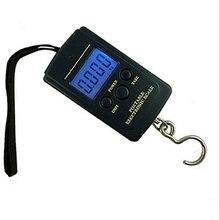40 кг мини портативные электронные весы практичные высокоточные цифровые ручные багажные дорожные весы кухонные карманные Крюк Инструмент