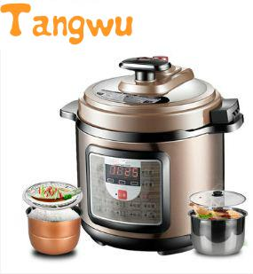 Free shipping 5L double bravery genuine electric pressure cooker B model 5 L electric pressure cookers electric pressure cooker double gall 5l electric pressure cooker rice cooker 5 people