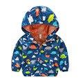 Baby Boy Jaquetas de Primavera 2016 Nova Marca Softshell Jaqueta Crianças Casaco Com Capuz Ativo de Alta Qualidade 2-6 Anos