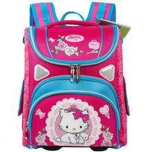 Grade 1-3-5 Cartoon Cat Orthopedic Backpack Waterproof Student Kids Girls Butterfly School Bags Children Schoolbags