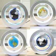 Globo flotante LED redondo con mapa del mundo, luz de levitación magnética, antigravedad, mágico, novedosa lámpara, bola de plasma Dec