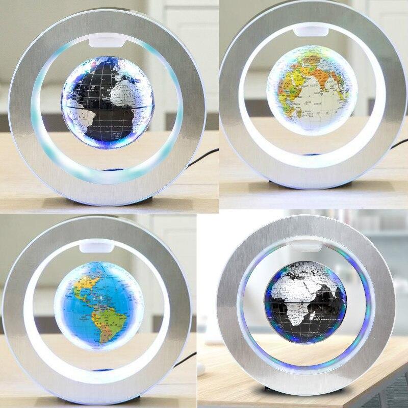 Novidade LEVOU Rodada Luz de Levitação Magnética Mapa Do Mundo Flutuante Globo Antigravidade Magia/Novel Lâmpada bola de plasma plasma De Dezembro bola