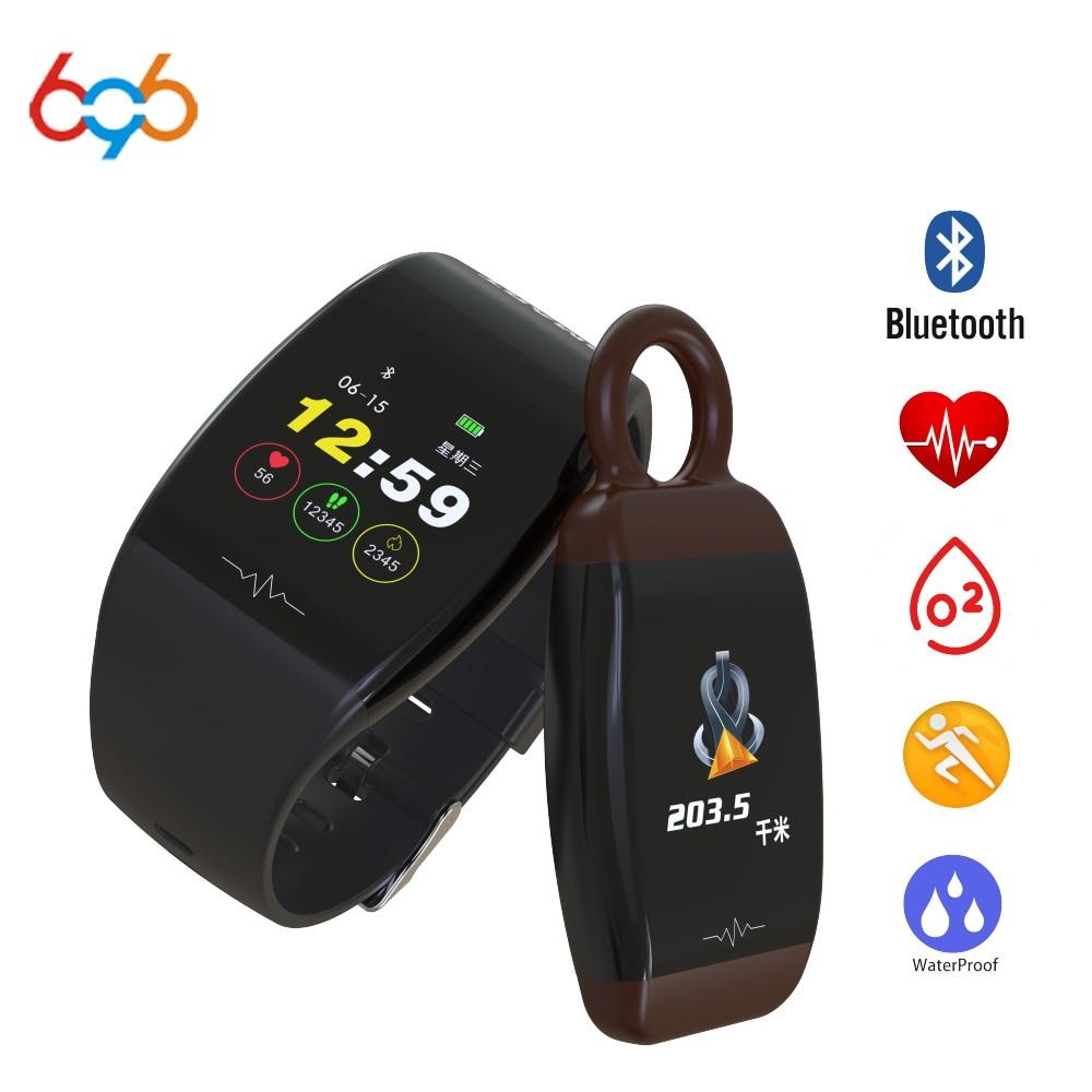 Tüketici Elektroniği'ten Akıllı Bileklikler'de 696 P1 Akıllı Bant Saatler Kan Basıncı nabız monitörü akıllı saat Spor Bilezik IP67 Pedometre Aktivite Izci title=