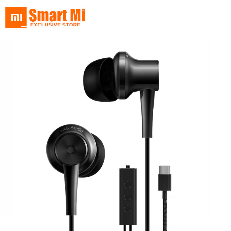 Original Xiaomi ANC Earphones Hybrid Type-C Charging-Free Mic Line Control for Xiaomi Mi6 MIX Note2 Mi5s /Plus Mi5 аксессуар чехол xiaomi mi5 cojess silicone 0 3mm grey