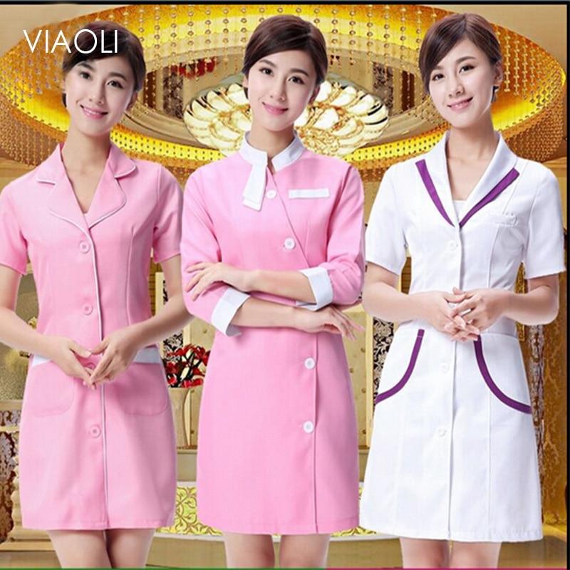 Beautician Dress Beauty Salon Uniforms Medical Uniforms Lab Coat Supplies Nurse Uniform Beautician Overalls Medical Clothing