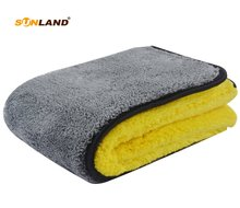 Sinland 1000gsm  40cmx40cm Plush Microfiber Towel Double Side High Quality Micro Fiber Dying Car Cleaning