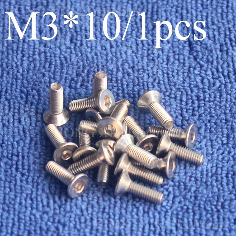 1 шт. M3 * 10 с плоской головкой Нержавеющаясталь ss304 машины потайной болт крепежа шестигранный ключ Шестигранная головка потайной головкой