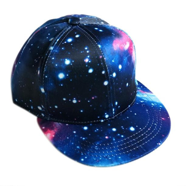 Starry Sky Teenage sport camps back snap adjustable baseball hiking caps unisex Cosmos design bright color travel cap hats sale