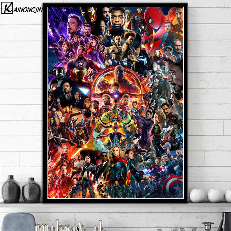 Hot Posters and Prints Marvel Cinematic Universe COLLAGE Avengers Art Poster marvel End Game Wall Picture Canvas Painting
